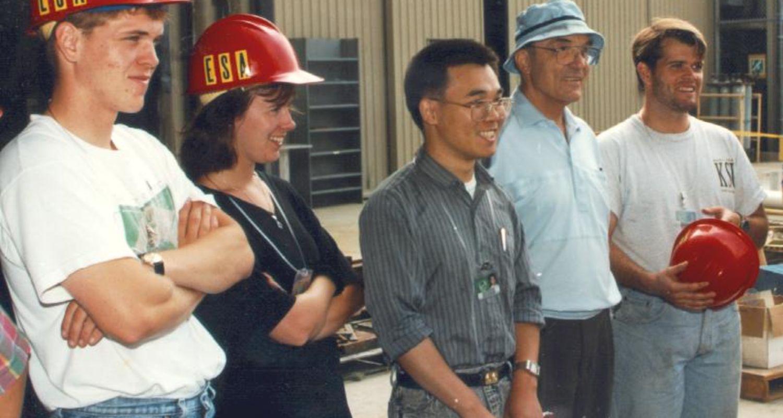 Morning briefing at accelerator lab