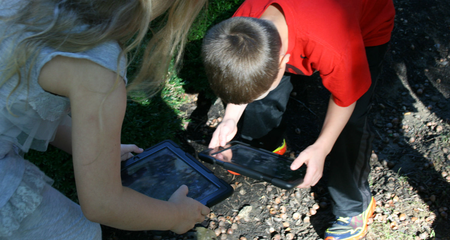 Students take learning outdoors