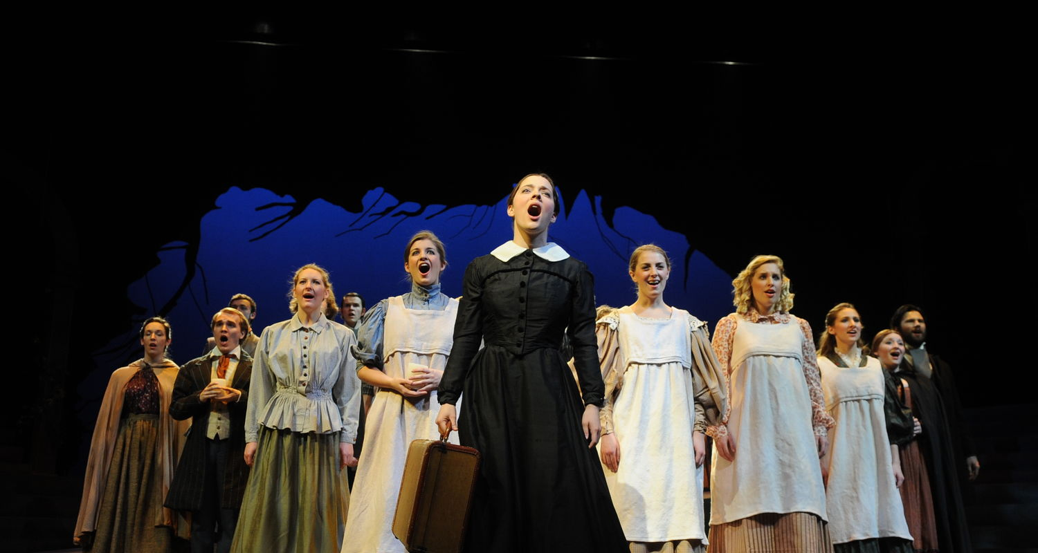 The cast of Jane Eyre performs in E. Turner Stump Theatre