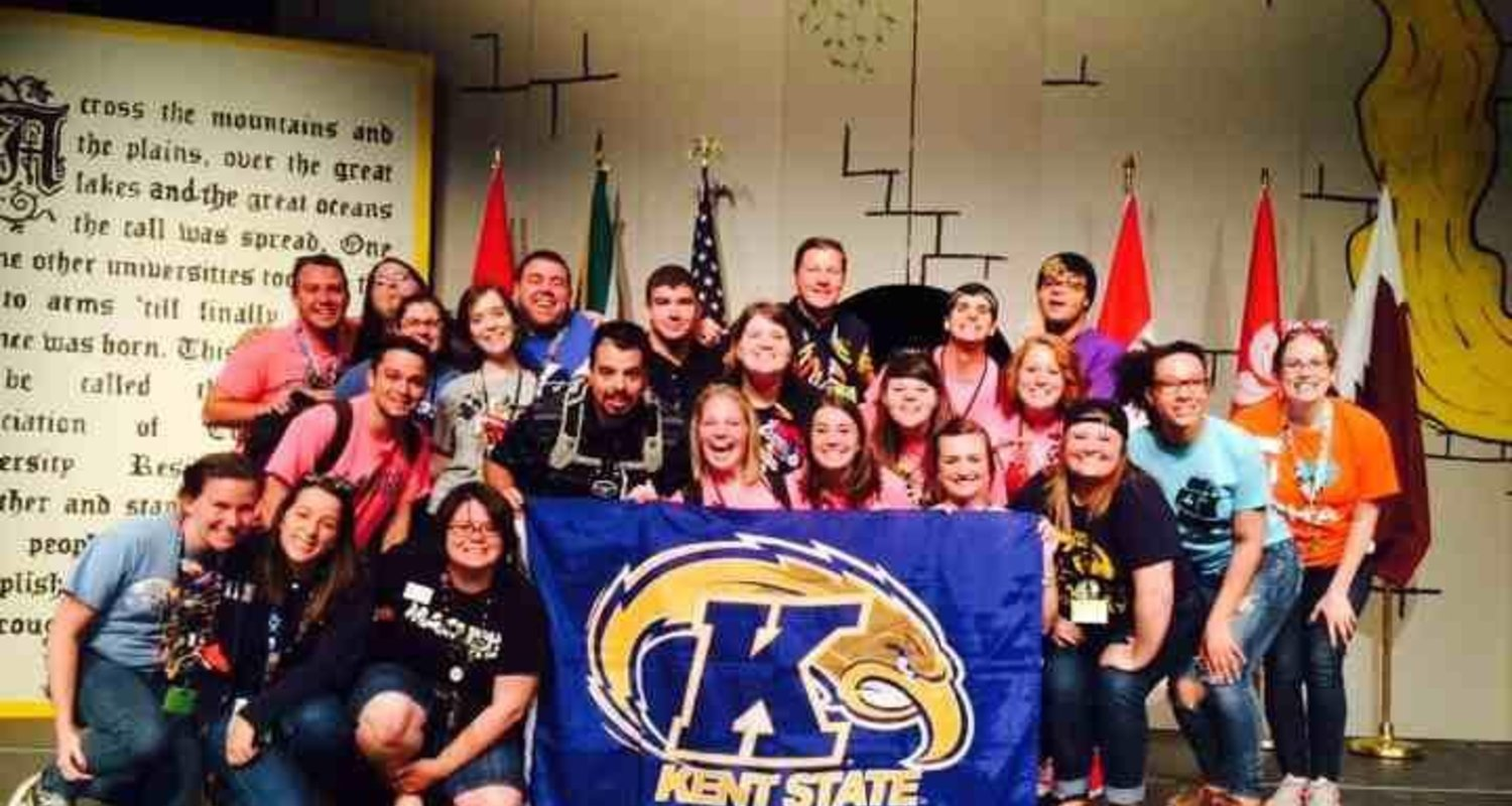 Kent State University students at the NACURH annual conference