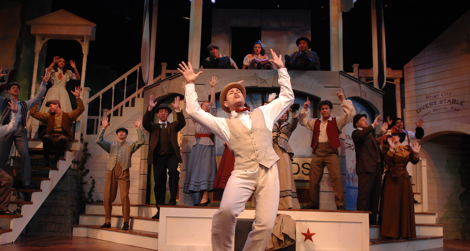 """Executive Producer Eric van Baars as Henry Hill in Porthouse's 2008 production of """"The Music Man"""""""