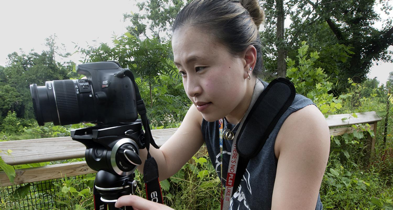 Photo of student taking photo