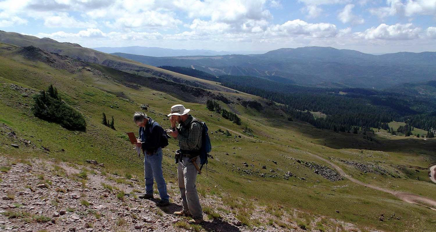 Research colleagues in Utah map the slide area