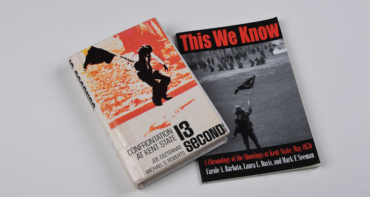 """With the 50th May 4 Commemoration approaching, this year's Common Reading Experience for all first-year Kent State University students created an opportunity to incorporate the books """"This We Know"""" and """"Thirteen Seconds: Confrontation at Kent State."""""""