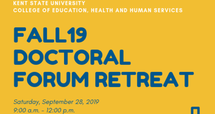 Fall 2019 Doctoral Forum Retreat Poster