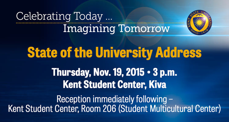 Kent State University President Beverly Warren will deliver her first State of the University address on Thursday, Nov. 19.