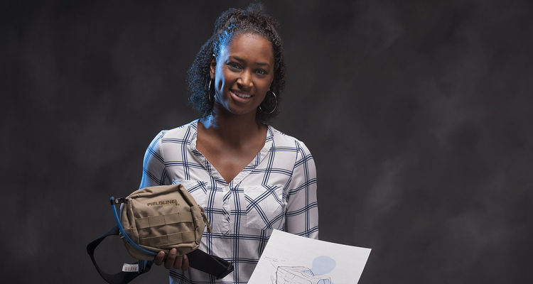 Shanice Cheatham took first place in the PITCH U elevator competition for her Endemic Filtration Portable Handwashing System.