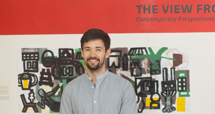 Dr. Joseph Underwood at his exhibition The View From Here in Senegal