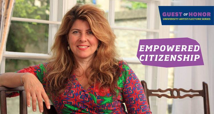 """Author, Political Consultant, and Social Critic Naomi Wolf will present """"Empowered Citizenship"""" on October 5."""