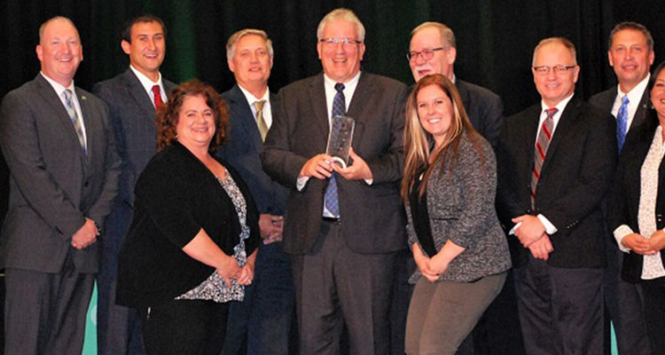 The Ohio Economic Development Association (OEDA) presented its Annual Excellence in Workforce Development Award to the Multi-County Advanced Manufacturing Corridor, a partnership of Kent State at Tuscarawas and several economic development organizations.