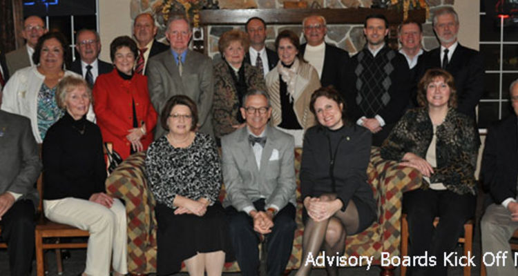 Dean Stephen Nameth hosted a reception to kick off the new year for the Advisory Boards from the East Liverpool and Salem campuses.