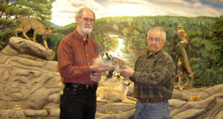 Jim Kerr, from Beaver Creek State Park Education Center, and Tom Butch, a Columbiana County Parks commissioner