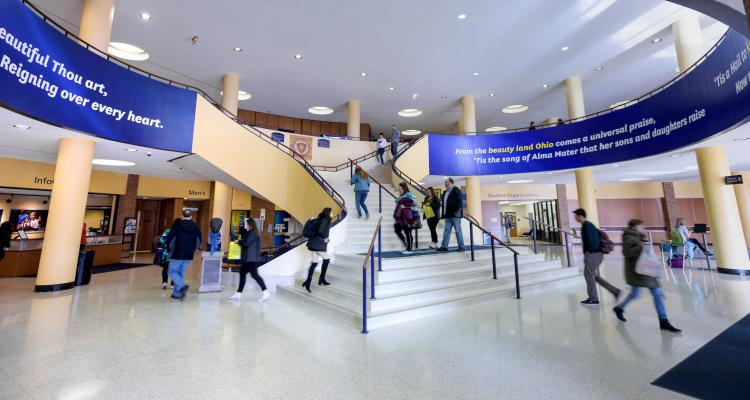 Photo of Staircase in Student Center