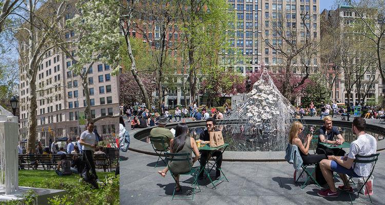 Diana Al-Hadid, Delirious Matter exhibition at Madison Square Park