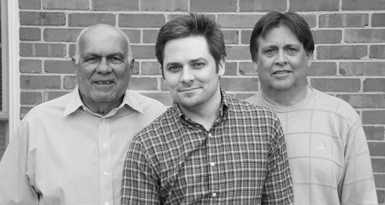 Three generations of Flashes: Nicholas' grandfather, Robert Giardina, M.Ed. '67; Nicholas; and Nicholas' father, Paul Giardina, '80.