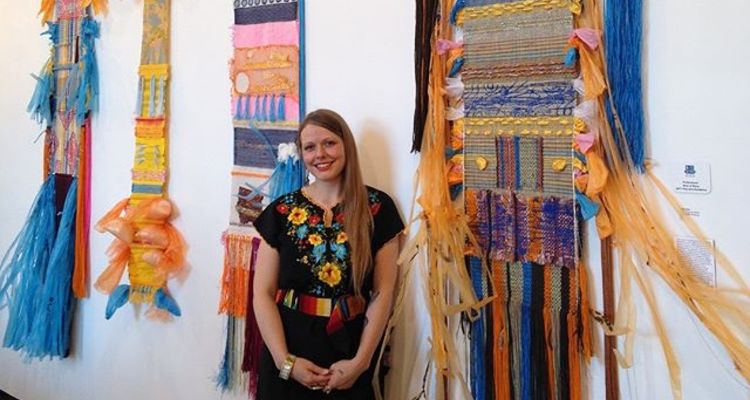 Katlin Rothacher - Textiles Alumna by her work at the Ohio State Fair