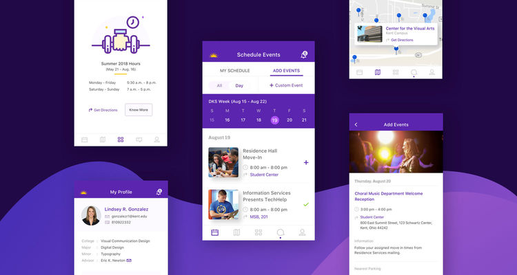 The KSU Kickoff App enables incoming freshmen to become acquainted with their university