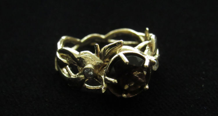 Mycala Nichols, 3D Printed Ring Cast in Gold