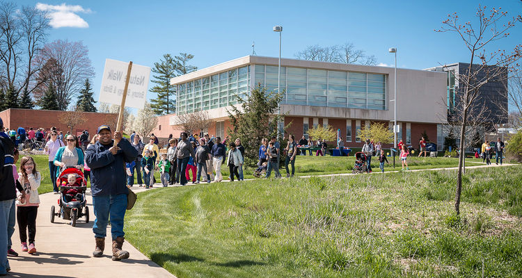 The Geologic Time Scale Walk at Kent State University at Stark puts time into perspective.