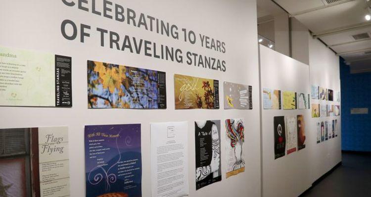 Traveling Stanzas exhibit