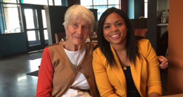 Henrietta Glaus '62, '66 and '73, and KSU student, Christina Ford