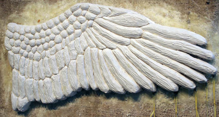 Wing and a Prayer #1 (detail) by Isabel Farnsworth