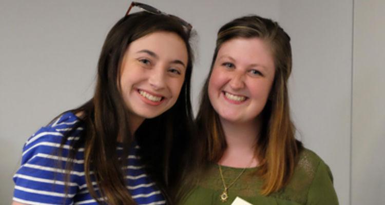 Courtney Carpenter and Kaitlyn Culp - Winners of the Denise Rhea Adams Travel Scholarship