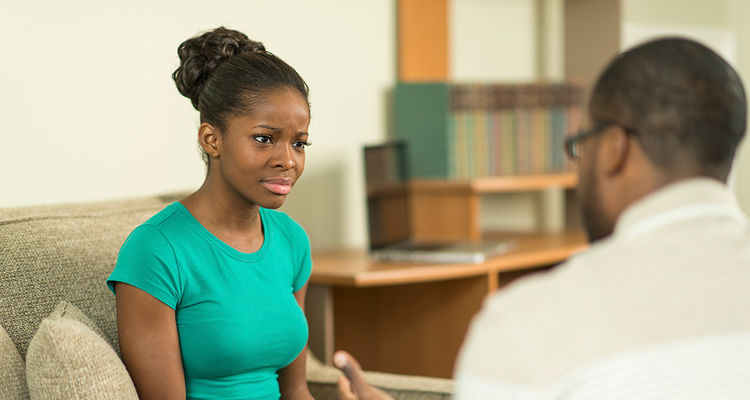 A psychiatric mental health nurse practitioner gives psychotherapy