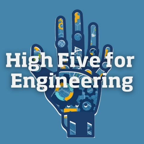 High Five for Engineering Logo