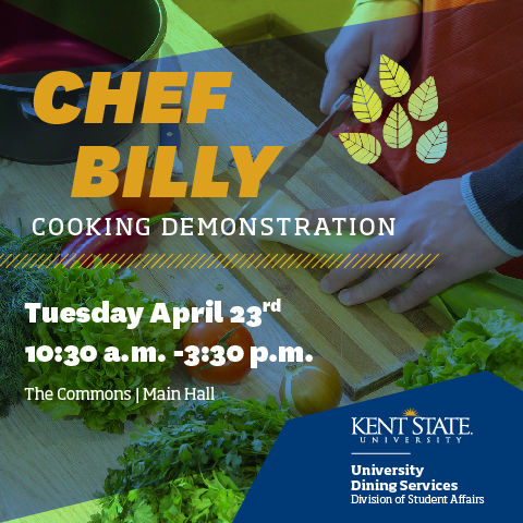 April Chef Billy Demonstration at Ashtabula