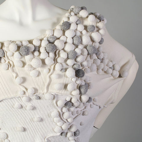 Mannequin wearing fashion garment