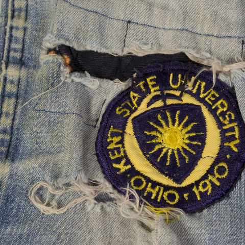 Kent State Patched Jeans