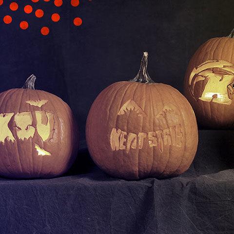 Kent State themed Jack-O-Lanterns