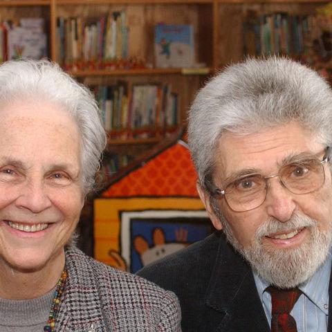 Sylvia and Ken Marantz in the Marantz Picturebook Collection at Kent State SLIS