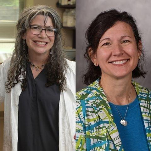 On left: picture of Mary Ann Raghanti, Ph.D. On right: picture of Melissa Celko