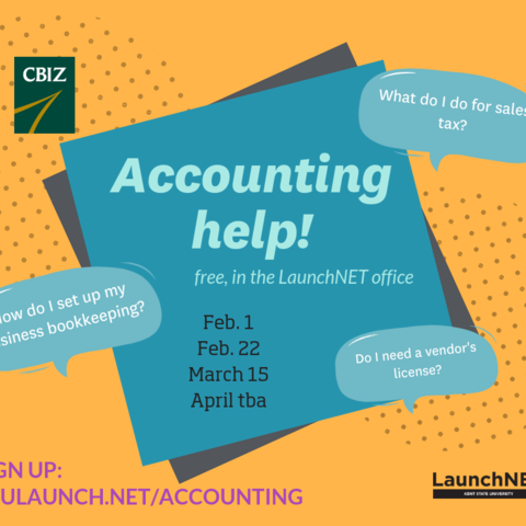 Accounting help at Launchnet: February 1, 22, March 15