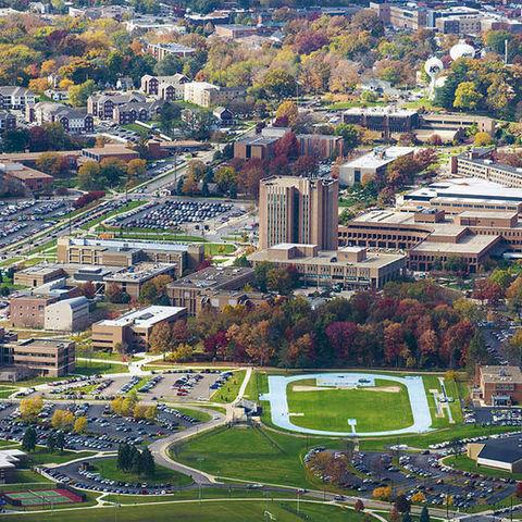 aerial view of KSU