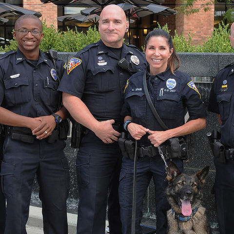 KSU Police Officers and K-9