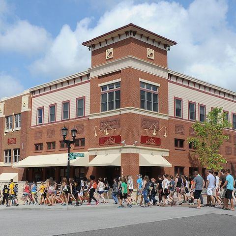 Kent State University students explore downtown Kent.