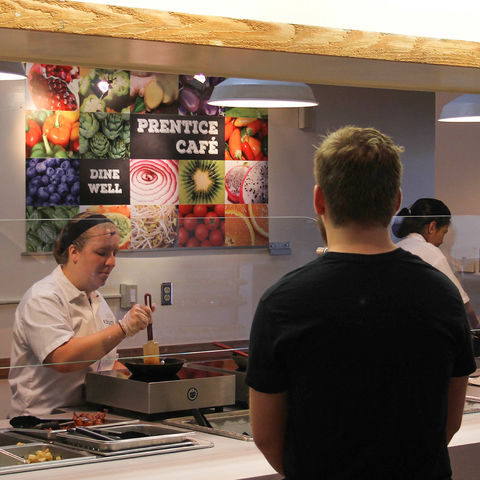 Kent State University students wait for their food to be prepared at Prentice Café. Kent State becomes the first university in the country to feature an entirely gluten-free dining hall on campus.