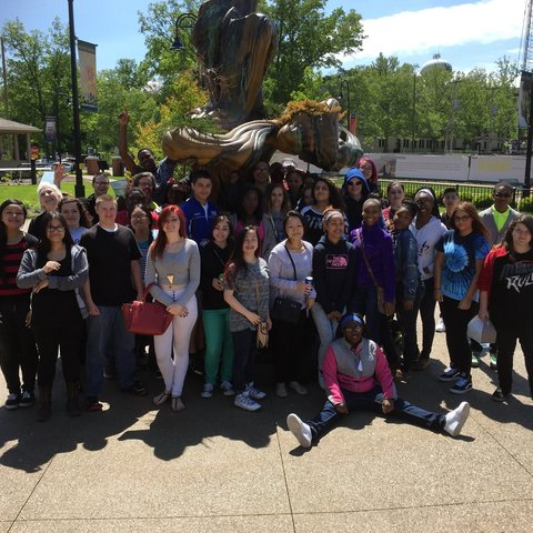 Garfield High School Students in the Poetry Park