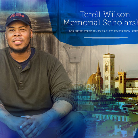 Terell Wilson studied communication at Kent State and saw his semester abroad as a life-changing experience that he wanted to share with the at-risk, inner-city youth he planned to counsel.