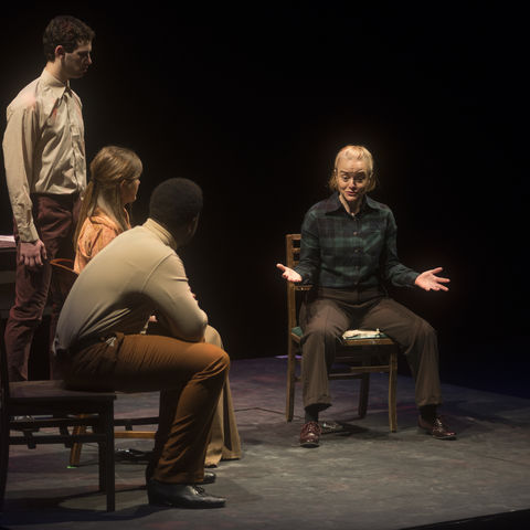 "Students perform in the Black Box Series production of ""The Tell Tale Heart"""