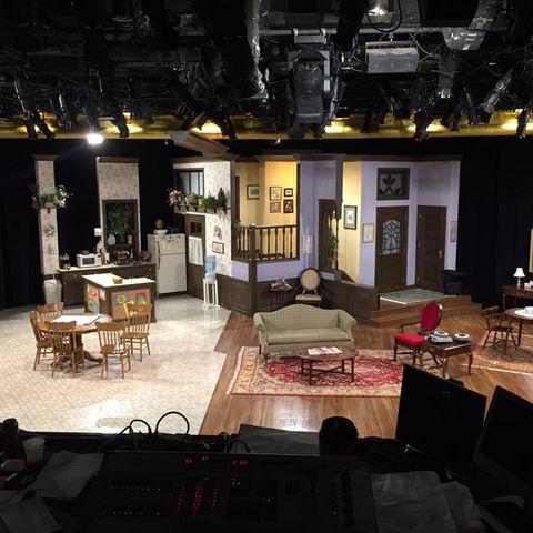 "The set of ""Family Ties"" at Human Race Theatre Company. Photo by Tamara Honesty."