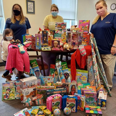 Officers of the Student Nurses Association on the East Liverpool Campus held a collection drive to benefit the East Liverpool Salvation Army.