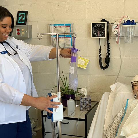 Ashley Boyd at nursing station