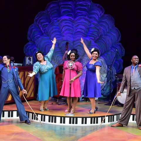 The cast of Ain't Misbehavin' performs at Porthouse Theatre.