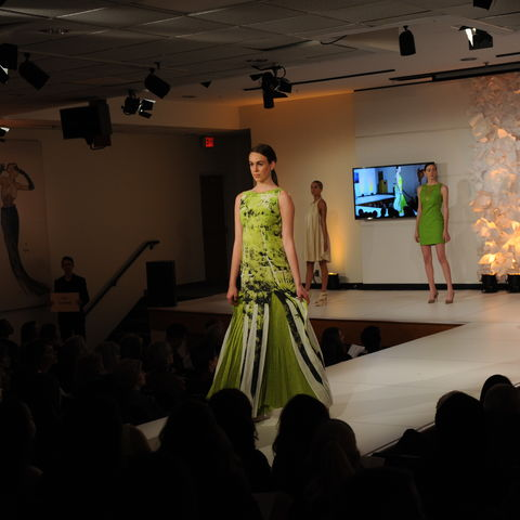 """""""Compleat"""" (collection) by student Lisa Conrad at the 2015 Annual Fashion Show"""