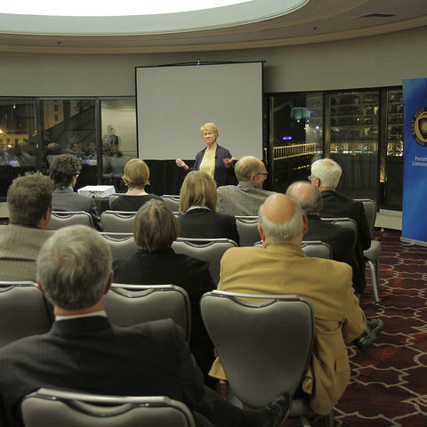 "Kent State University President Beverly Warren invites alumni to discuss ""the heart of Kent State"" at the Presidential Listening Tour event in Chicago."