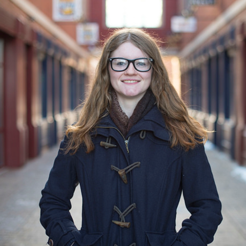 Bio-Med High School senior Callie Mo is interning at IdeaBase, Kent State University's student-powered design agency specializing in graphic design, web design, usability, branding, video and advertising.